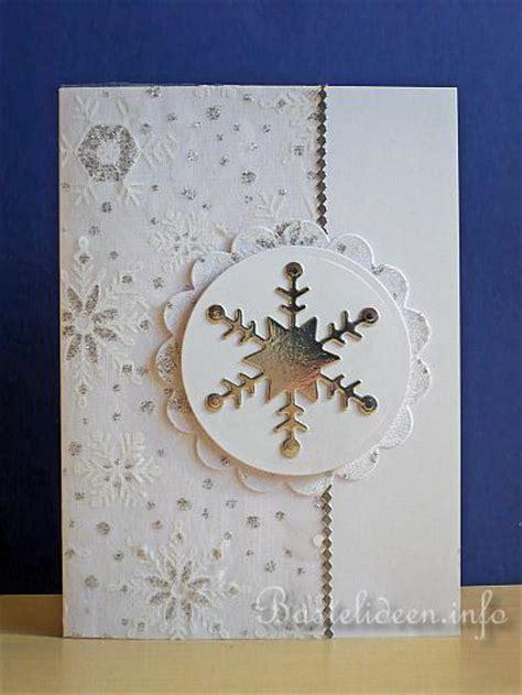weihnachtskarten basteln karte mit schneeflocke