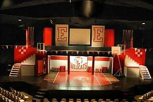 high school musical set design | Stage set design props ...