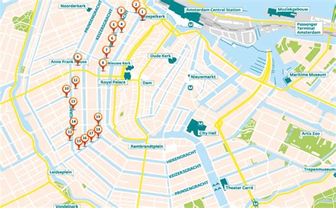 Amsterdam Museum District Map by Highlights Of The Amsterdam Canal District Mark Media