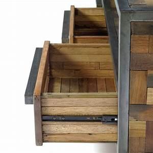 Meuble Tv Original : original meuble tv industriel atelier en m tal et bois recycl ~ Teatrodelosmanantiales.com Idées de Décoration