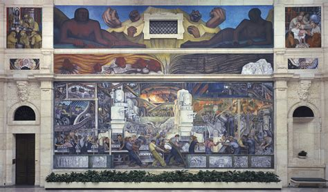 the detroit industry murals by diego rivera about place