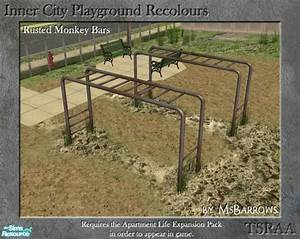 MsBarrows' Inner City Playground - Rusted Monkey Bars
