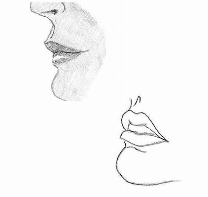 Lips Side Drawing Draw Profile Croquis Sketch