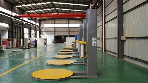 pallet stretch wrapping packing machine film stretch wrapper equipments  food cartons