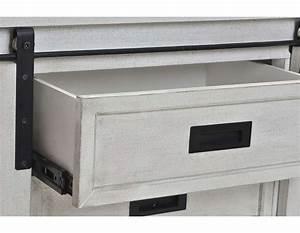 Meuble Tele Gris : meuble de t l gris blanchi et m tal noir avec portes coulissantes ~ Teatrodelosmanantiales.com Idées de Décoration
