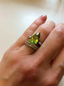 peridot wedding rings peridot rings engagement ring unique engagement ring