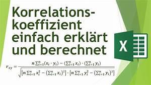 Korrelationskoeffizient Berechnen Excel : korrelationskoeffizient in excel berechnen manuell und verstehen daten analysieren in excel ~ Themetempest.com Abrechnung
