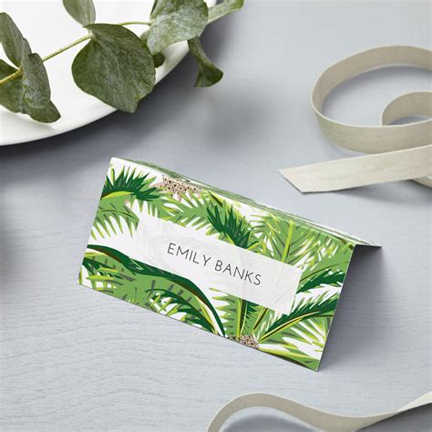 tropical place cards lucy