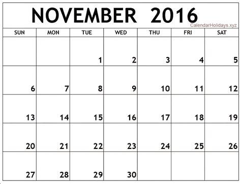 Word Calendar Template November 2016 Word Calendar Wordcalendar Calendartemplates