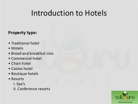 Introduction To Hotels By Gaurav Khanna
