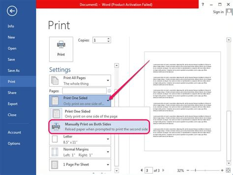 how to print two pages on one paper in microsoft word