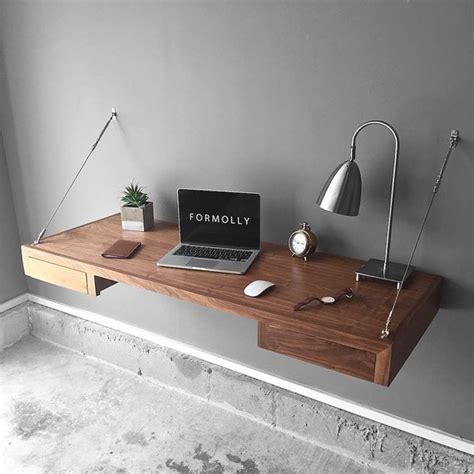 floating wall desk floating desk with storage walnut wall mounted desk wall