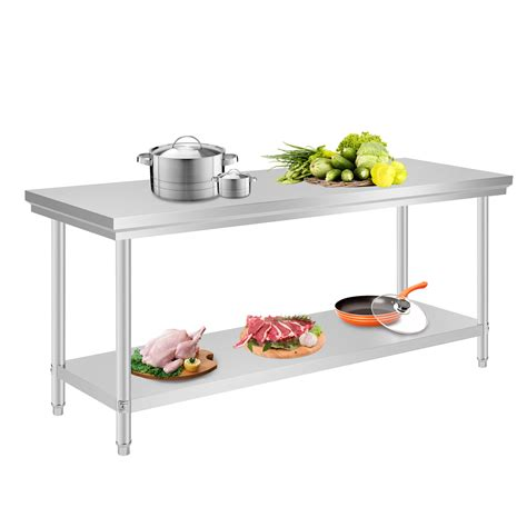 New Commercial Stainless Steel Kitchen Work Prep Table Nsf