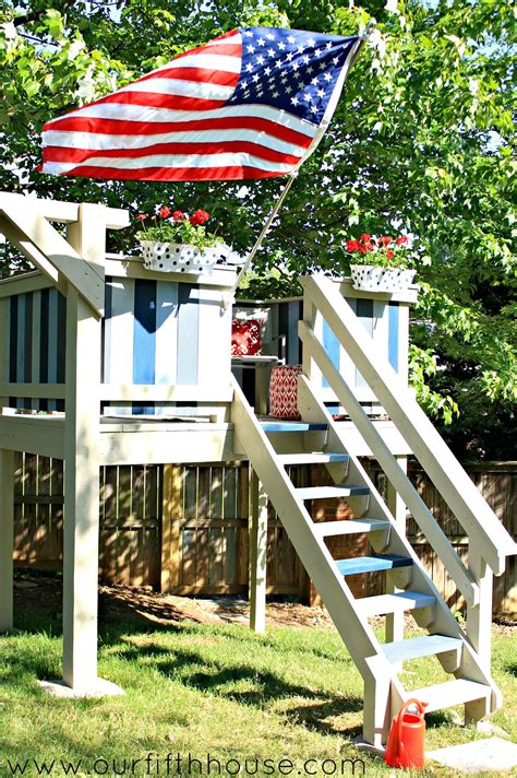 Backyard Clubhouse Plans by Diy Swing Set Playhouse Our Fifth House