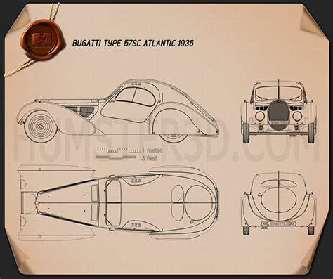 bugatti type sc atlantic  blueprint humd
