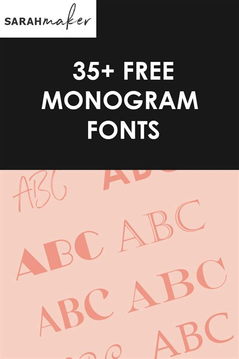 monogram fonts  cricut   sarah maker