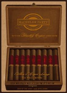 Party invitations cigar bachelor party at mintedcom for Cigar box wedding invitations
