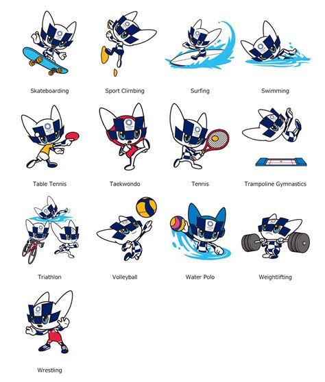 tokyo mascot images representing olympic paralympic sports