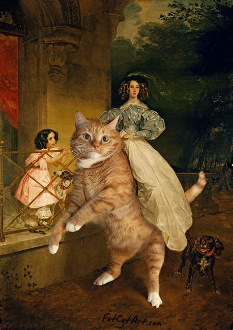 artist inserts  ginger cat  famous masterpieces top
