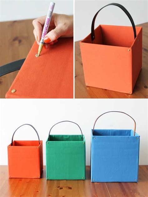 DIY Upholstered Storage Boxes, Recycle Crafts