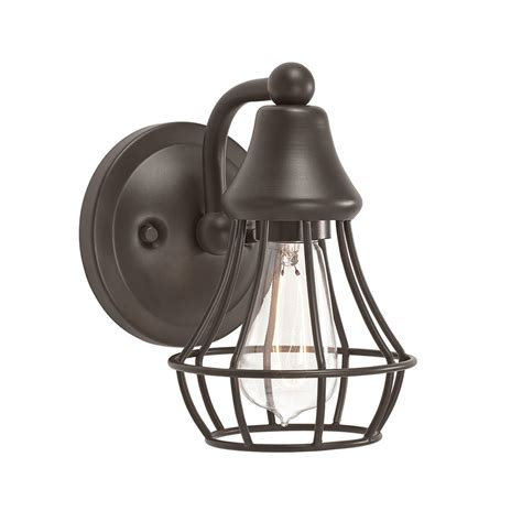 wall sconce l lighting olde bronze cage light fixture