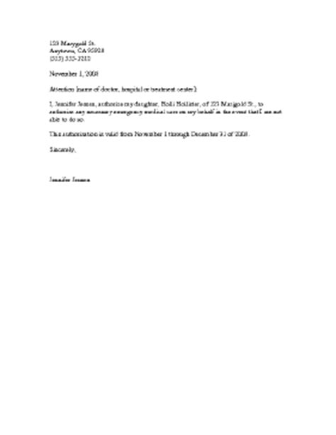 medical release letter template