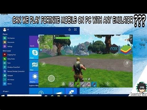 play fortnite mobile  pc   emulatormust