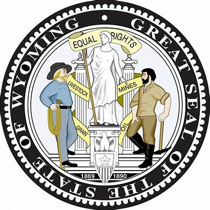 Wyoming Seal State Svg Stateseal Laws Official