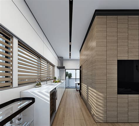 interior wood paneling 4 contemporary home visualizations with sleek sophistication