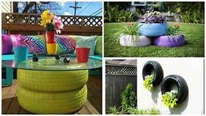 Pinterest Bricolage Jardin : les pneus au jardin clairage jardin pinterest ~ Melissatoandfro.com Idées de Décoration