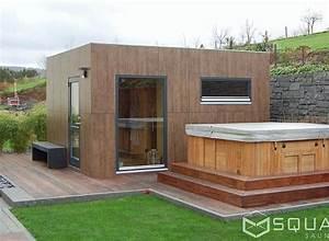 sauna aussen haus dekoration With französischer balkon mit strom verlegen im garten