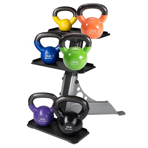 kettlebell rack body vinyl lb weight sets solid pack kettle bell sears goods sporting dick iron