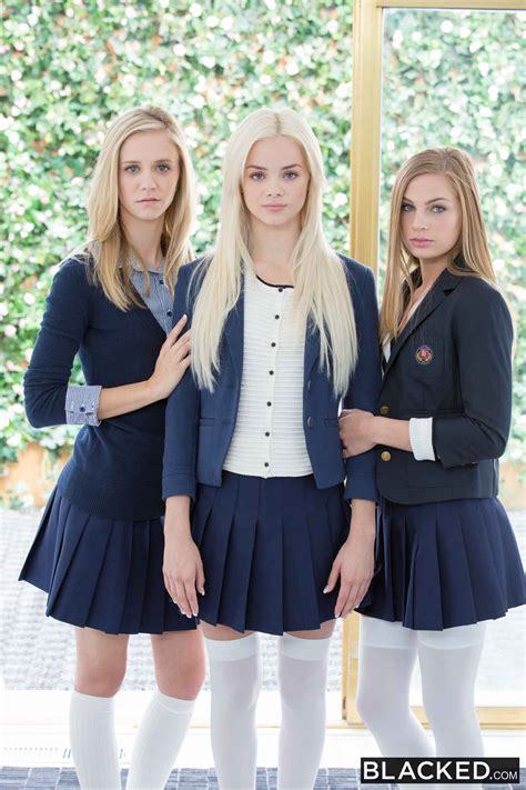 Elsa Jean Preppy Girl Threesome Get Three Bbcs Picture 1
