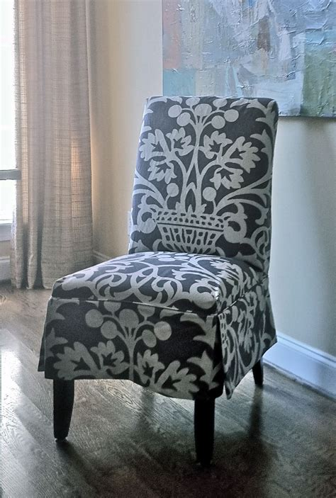 Parson Chair Slipcover Pattern by Slipcovered Parson S Chair Design By Elisha Howell