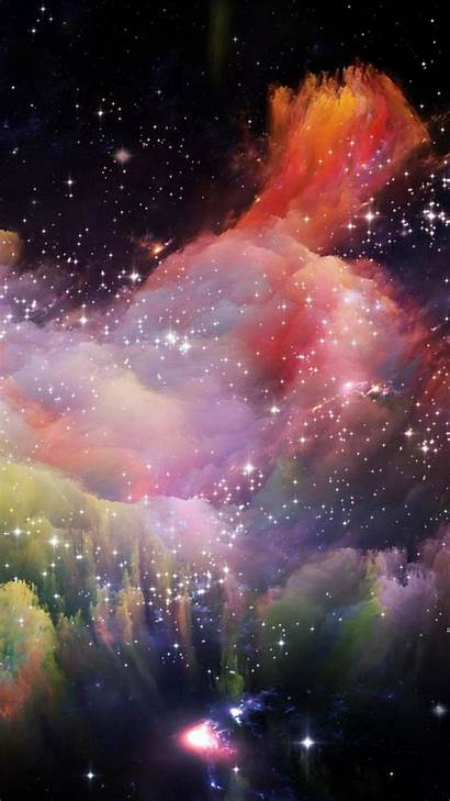 Space Iphone Rainbow Star Colorful Wallpapers Backgrounds