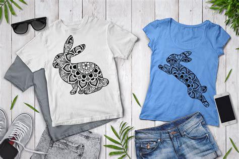 Beautiful quotes and custom designs. Rabbit Mandala SVG Cut Files, Rabbit Mandala Clipart By ...