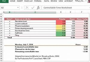 Work Priority List Template Controllable Time Worksheet Template For Excel