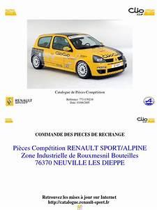 Catalogue Pieces De Rechange Renault Pdf : teilekatalog clio ii cup 2005 ~ Medecine-chirurgie-esthetiques.com Avis de Voitures