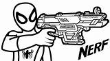 Nerf Gun Coloring Pages Guns Printable Boys Drawing Spiderman Rifle Colouring Sheet Sheets Coloringpagesfortoddlers Fun Template Pistols Vulcan Toy Hold sketch template