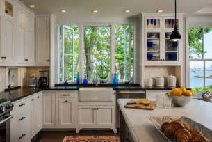 Pull Kitchen Faucet Cottage Style Kitchen Portland Maine By Whitten Architects