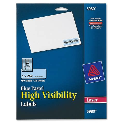 avery rectangle    high visibility labels
