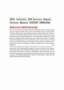2001 Infiniti G20 Service Repair Factory Manual Instant