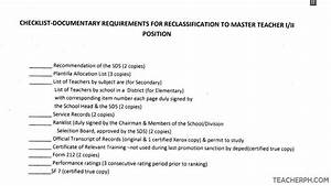 How To Title A Letter Of Recommendation Requirements Checklist For Reclassification To Master