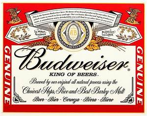 budwiser label tin sign at allposterscom With custom budweiser label