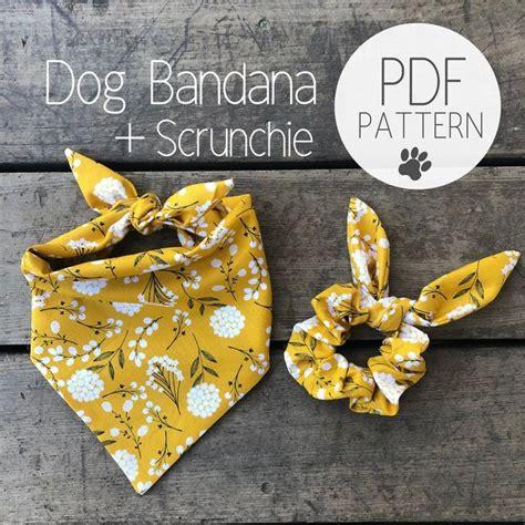 dog bandana  matching scrunchie bowtie pattern