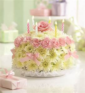 Image Gallery happy birthday flowers cake
