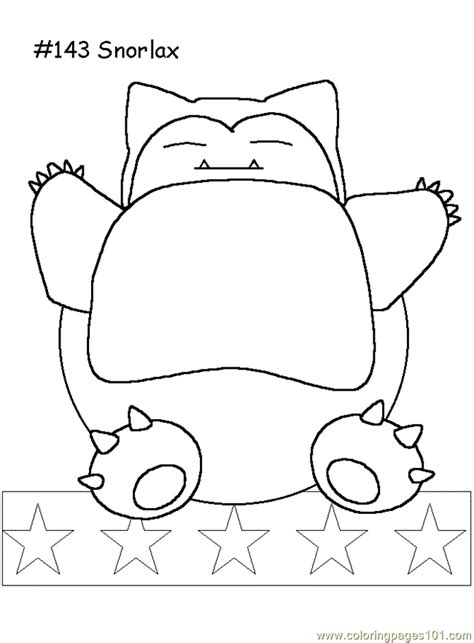 snorlax coloring page  pokemon coloring pages coloringpagescom