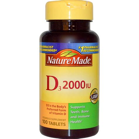 nature made d3 vitamin d supplement 2000 iu 100