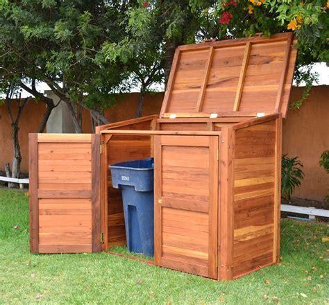 modern trash shed