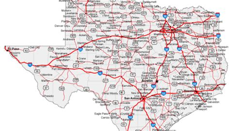 small texas hill country town    map